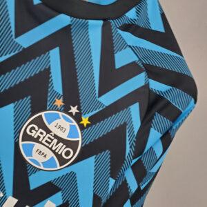 Camisa Grêmio Treino Azul c Preto 21-22