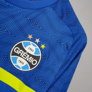 Camisa Grêmio Treino Azul com Verde 21-22
