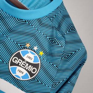 Camisa Grêmio Treino Azul c Branco 21-22