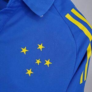 Camisa Cruzeiro Polo Azul 21-22